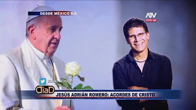 JESUS ADRIAN ROMERO APOYA LA IGLESIA CATÓLICA